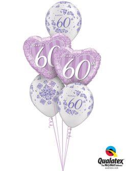 Bukiet 975 Sweet 60th Celebration Qualatex #49132-2 50218-3