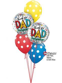 Bukiet 988 Father's Day Thanks Qualatex #55818-2 81680-3 43790-1 43804-1 43742-1