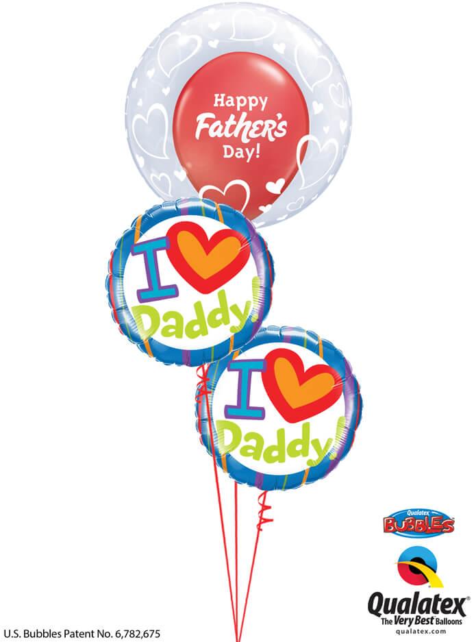 Bukiet 995 Hearts For Dad Qualatex #29505 55821-2 24362-1