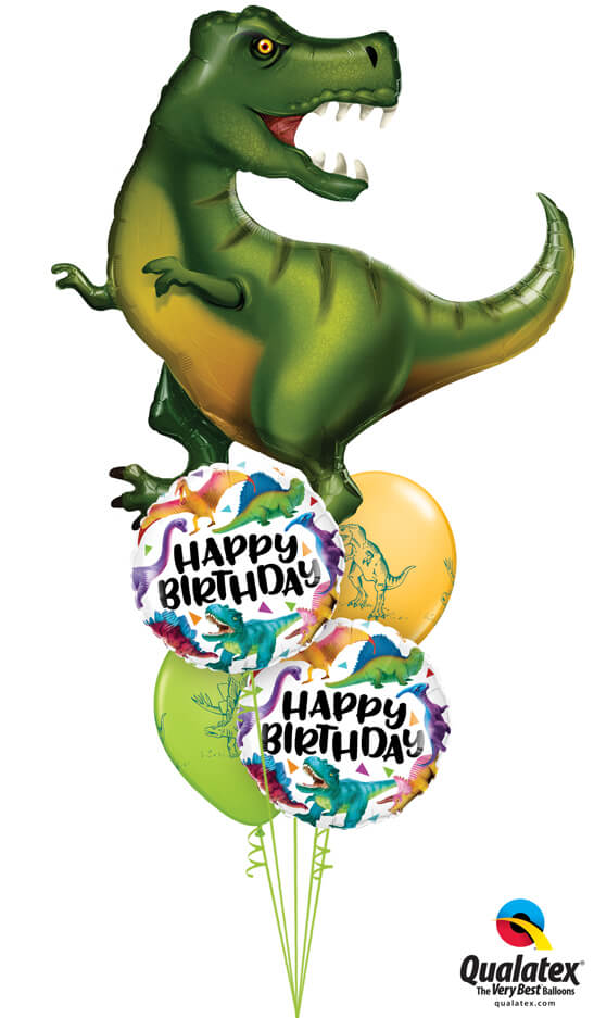 Bukiet 978 Have a DINO-RRIFIC Birthday! Qualatex #88459 97382-2 37097-2
