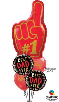 Bukiet 1001 Greatest Dad of All Time! Qualatex #98523 98428-2 11238-2 43790-2