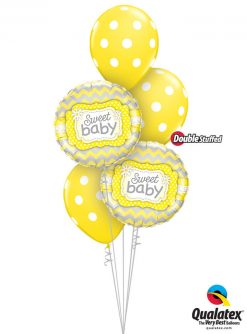 Bukiet 1010 Big Yellow Baby Polka Dots Qualatex #25856-2 81680-3 43804-3