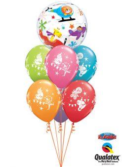 Bukiet 1015 Welcome Baby Flying Circus Qualatex #25279
