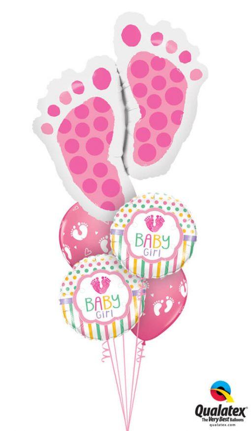 Bukiet 1009 Love You Baby Girl Qualatex #25853 25746-2 45651-2