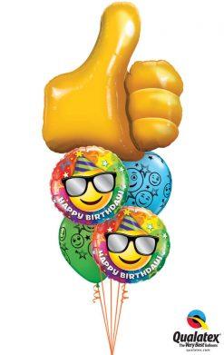 Bukiet 1007 Thumbs Up Birthday Qualatex #47575 49057-2 52960-2