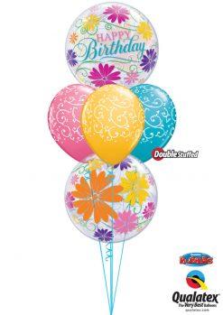 Bukiet 1032 Butterfly Birthday Bouquet Qualatex #49087-2 22396-3 43791-1 43799-1 43748-1