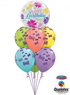 Bukiet 1031 Butterfly Birthday Bouquet Qualatex #49087 48365-6