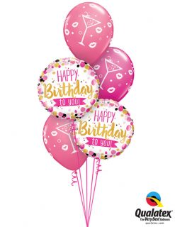 Bukiet 1024 Classy Cosmo Birthday Qualatex #49170-2 18375-3