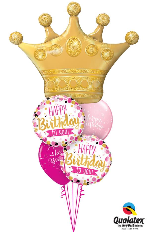 Bukiet 1021 Birthday Crown Qualatex #49343 49170-2 25588-2