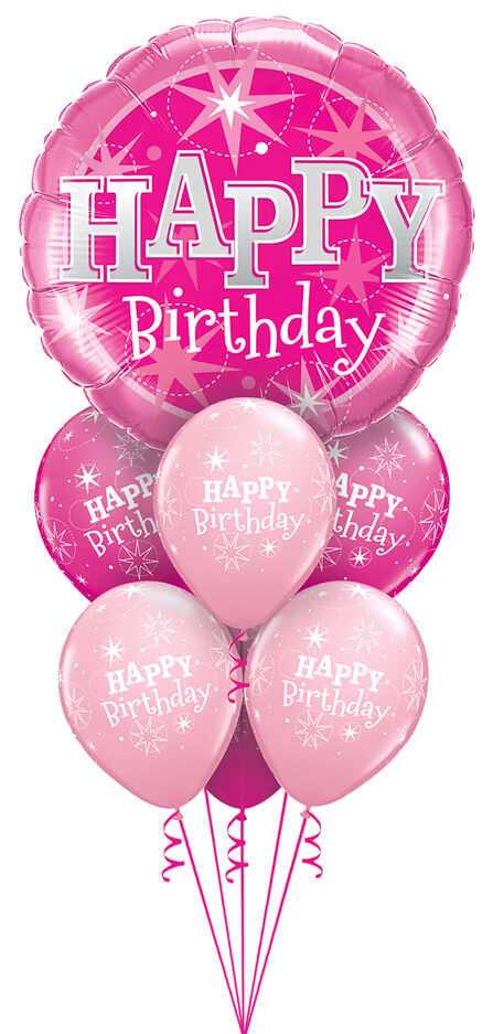 Bukiet 1133 Luxurious Pink Sparkle Birthday Qualatex #43172 38856-6