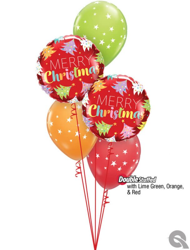 Bukiet 1088 Merry And Oh So Bright! Qualatex #15025-2 88399-3 48955 43790