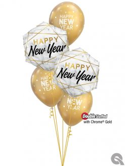 Bukiet 1121 Best Wishes for the Coming Year Qualatex #15055-2 97325-3 58271-3