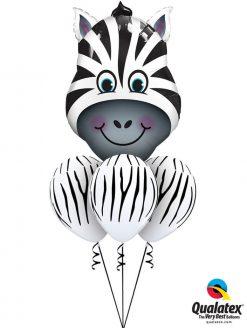 Bukiet 1059 Zany Zebra Qualatex #16166 37044-3