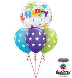 Bukiet 1074 Brilliant Stars Birthday Bubble Qualatex #23595 37052-3