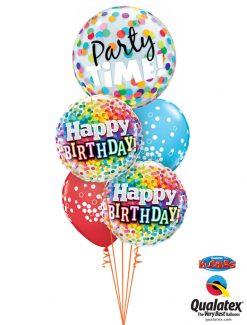 Bukiet 1036 Colorful Confetti Birthday Bouquet Qualatex #23636 49496-2 52962-2