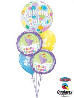 Bukiet 1038 Baby Elephant Shower Bouquet Qualatex #25860 13912-2