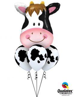 Bukiet 1057 Contented Cow Bouquet Qualatex #16455 11633-3