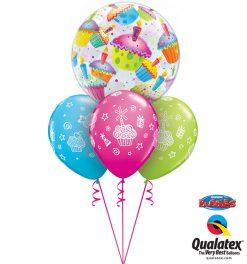 Bukiet 1076 Colorful Birthday Cupcakes Qualatex #34407 31227-3