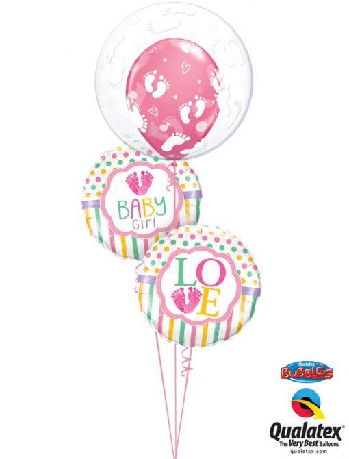 Bukiet 1040 Pink Footprints Qualatex #49459 25746-2 44793
