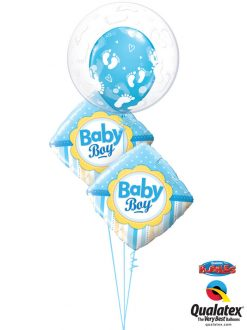 Bukiet 1041 Blue Baby Boy Feet Bouquet Qualatex #49459 14637-2 44794