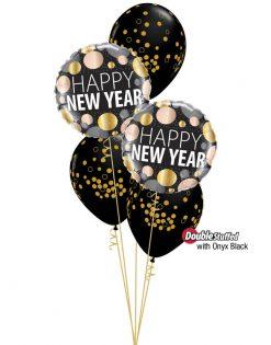 Bukiet 1113 Sparkling New Year Confetti Qualatex #58163-2 56844-3 43737-3