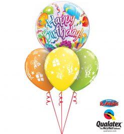 Bukiet 1075 Happy Birthday Presents Galore Qualatex #65407 60131-3