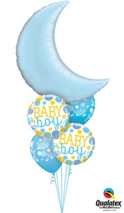 Bukiet 1042 Baby Blue Moon Bouquet Qualatex #74622 55385-2 55988-2
