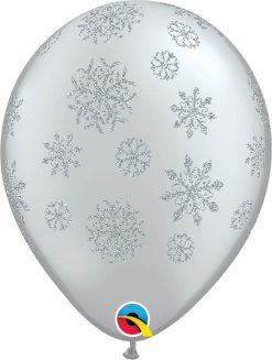 "11"" / 28cm Glitter Snowflakes-A-Round Qualatex #80170-1"