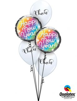 Bukiet 1123 Colorful New Year Qualatex #89882-2 90992-3