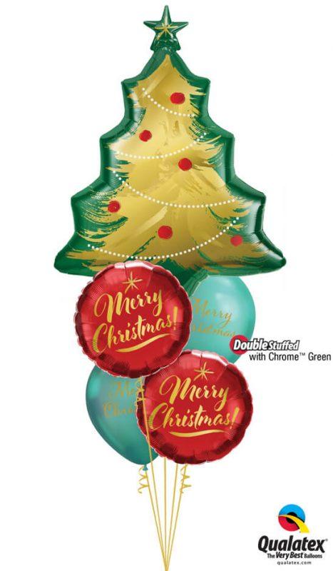 Bukiet 1082 Christmastime is here! Qualatex #89972 89850-2 97322-2 58273-2