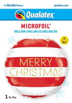 18″ / 46cm Christmas Red & White Stripes Qualatex #15037