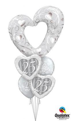 Bukiet 1175 Silver Anniversary Qualatex #16304 49109-2 50210-2