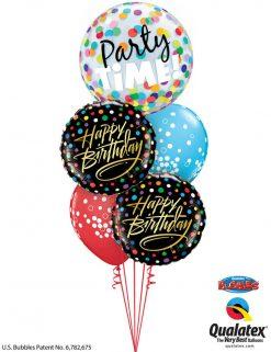 Bukiet 1144 Happy Birthday, It's Party Time! Qualatex #23636 57295-2 52964-2