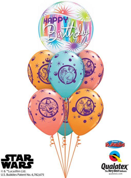 Bukiet 1233 Star Wars Birthday Heroines Qualatex #25704 57638-6