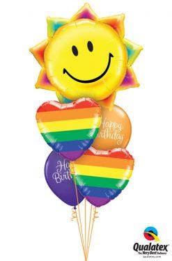 Bukiet 1231 Birthday Sunshine & Rainbows Qualatex #26531 78715-2 89447-2