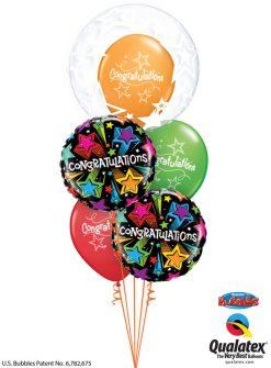 Bukiet 1182 Starburst Congratulations Qualatex #42671 41434-2 57184-3