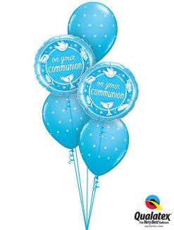 Bukiet 1164 Blue First Communion Qualatex #49747-2 18464-3