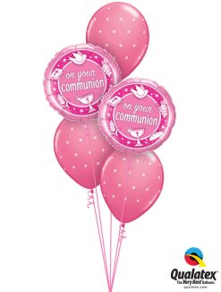 Bukiet 1163 Polka Dot Rose Communion Qualatex #49750-2 18464-3
