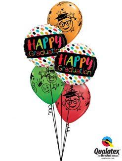 Bukiet 1196 Colorful Grad Smiles Qualatex #55839-2 48367-3