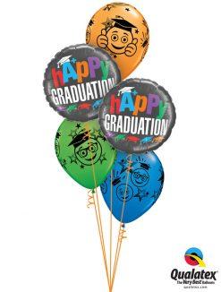 Bukiet 1194 A+ Graduation Smileys Qualatex #55844-2 48367-3