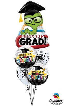 Bukiet 1193 Hat's Off, Graduate! Bookworm Qualatex #55873 93214-2