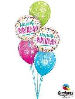 Bukiet 1155 Birthday Sprinkle Surprise Qualatex#57265-2 31227-3
