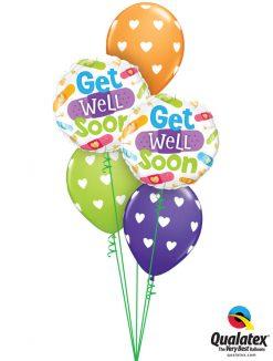Bukiet 1161 Get Well Soon Hearts & Bandages Qualatex #57304-2 78707-3