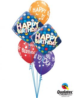 Bukiet 1154 A Very Happy & Musical Birthday Qualatex #57331-2 18461-3