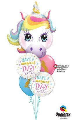 Bukiet 1142 Magical Day Birthday Qualatex #57352 57262-2 57553-2 43791 43762
