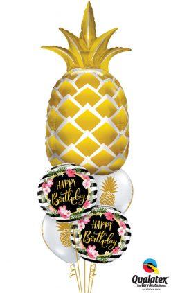 Bukiet 1138 Pineappley Birthday Qualatex #57362 57280-2 57552-2