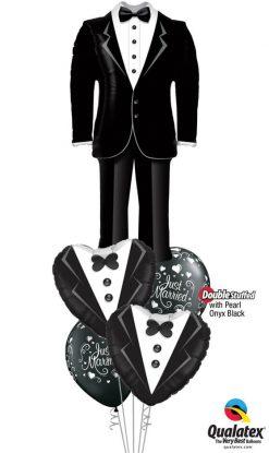 Bukiet 1173 Handsome Groom Suit Qualatex #57372 15784-2 18652-2 43770-2