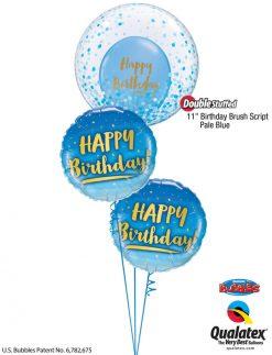 Bukiet 1219 Confetti Pale Blue Bubble Birthday Qualatex #57789 78676-2 80569 43762