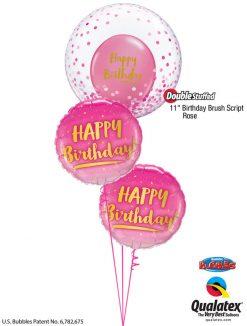 Bukiet 1218 Confetti Rose Bubble Birthday Qualatex #57790 78672-2 80569-2 43791-2