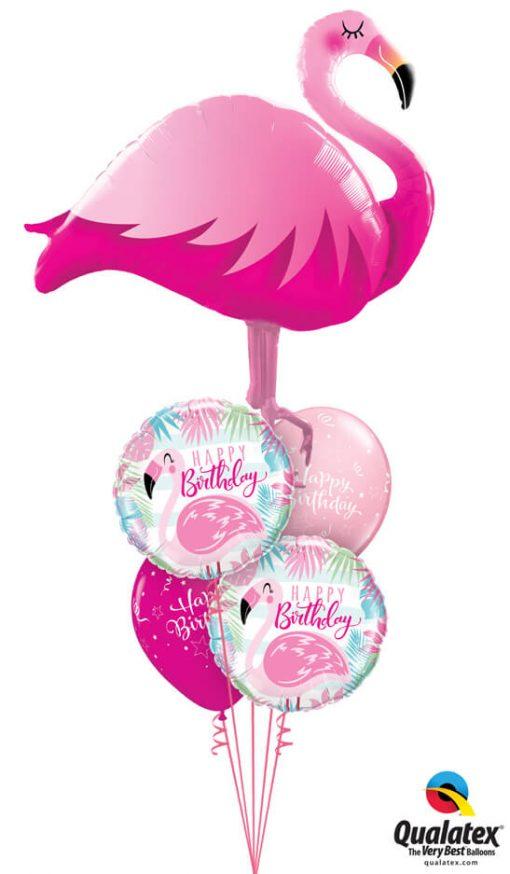 Bukiet 1180 Pink Flamingo Birthday Qualatex #57807 57274-2 25588-2
